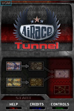 Title screen of the game AiRace - Tunnel on Nintendo DSi