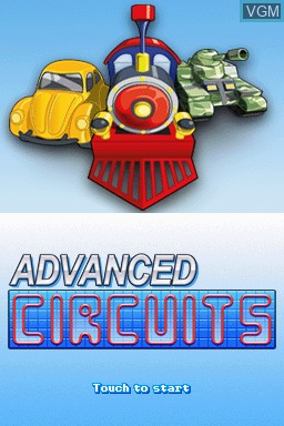 Title screen of the game Advanced Circuits on Nintendo DSi