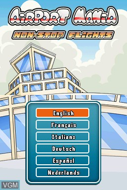 Title screen of the game Airport Mania - Non-Stop Flights on Nintendo DSi