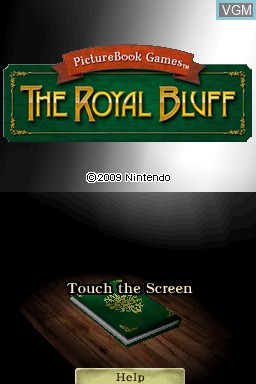 Title screen of the game PictureBook Games - The Royal Bluff on Nintendo DSi