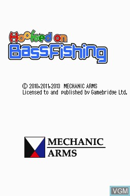 Title screen of the game Hooked on Bass Fishing on Nintendo DSi