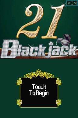 Title screen of the game 21 - Blackjack on Nintendo DSi