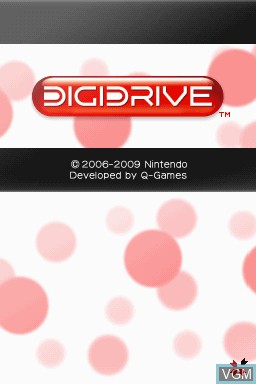 Title screen of the game Art Style - DIGIDRIVE on Nintendo DSi