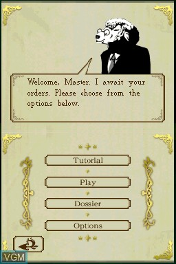 Menu screen of the game PictureBook Games - The Royal Bluff on Nintendo DSi