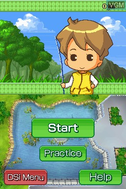 Menu screen of the game Hooked on Bass Fishing on Nintendo DSi