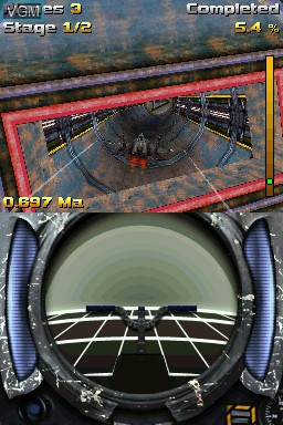 In-game screen of the game AiRace - Tunnel on Nintendo DSi