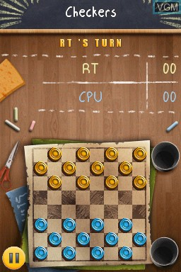 In-game screen of the game Academy - Checkers on Nintendo DSi