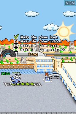 In-game screen of the game Airport Mania - First Flight on Nintendo DSi