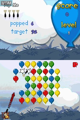 In-game screen of the game Bloons on Nintendo DSi