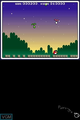 In-game screen of the game Bird & Beans on Nintendo DSi