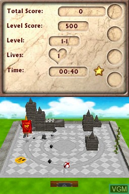 In-game screen of the game 1001 Blockbusters on Nintendo DSi