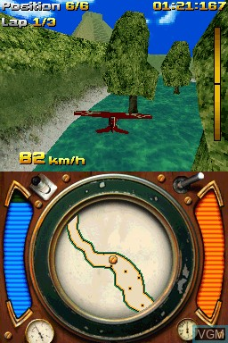 In-game screen of the game AiRace on Nintendo DSi
