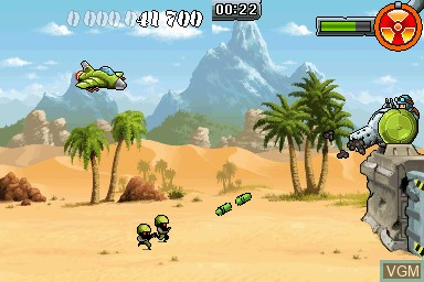In-game screen of the game Army Defender on Nintendo DSi
