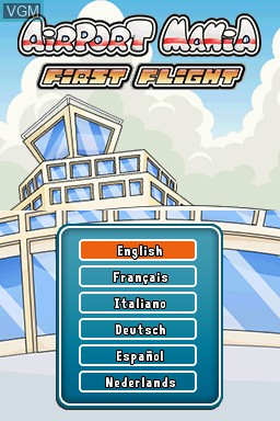 In-game screen of the game Airport Mania - Non-Stop Flights on Nintendo DSi