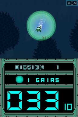 In-game screen of the game Abyss on Nintendo DSi