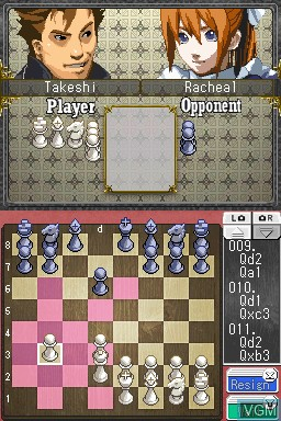 In-game screen of the game Absolute Chess on Nintendo DSi