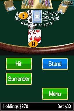 In-game screen of the game 21 - Blackjack on Nintendo DSi