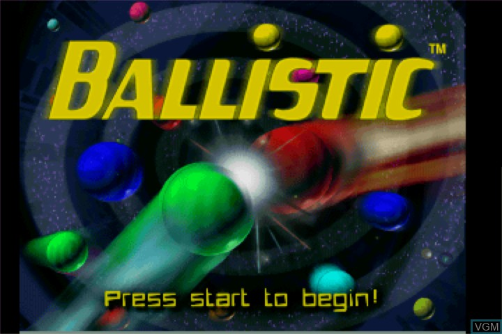 Title screen of the game Ballistic on VM Labs Nuon