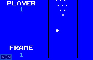 In-game screen of the game 06 - Bowling on Odyssey 2