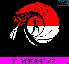 Title screen of the game 007 - Dangereusement Votre on Tangerine Computer Systems Oric