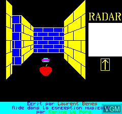 Title screen of the game 3D Munch on Tangerine Computer Systems Oric