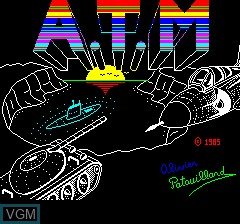 Title screen of the game A.T.M - Air Terre Mer on Tangerine Computer Systems Oric