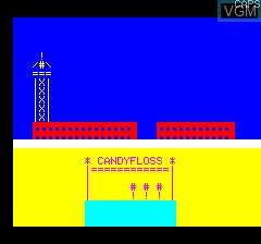 Title screen of the game Candyfloss on Tangerine Computer Systems Oric