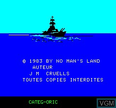 Title screen of the game Categ-Oric on Tangerine Computer Systems Oric