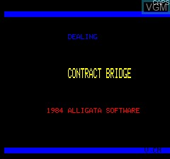 Title screen of the game Contract Bridge on Tangerine Computer Systems Oric