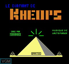 Title screen of the game Diamant De Kheops, Le on Tangerine Computer Systems Oric