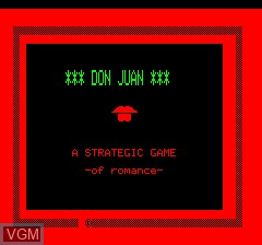 Title screen of the game Don Juan on Tangerine Computer Systems Oric