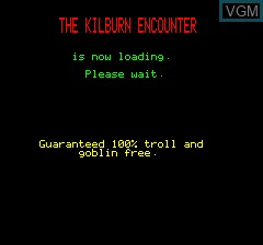 Title screen of the game Kilburn Encounter, The on Tangerine Computer Systems Oric