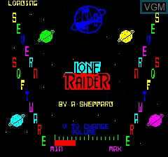 Title screen of the game Lone Raider on Tangerine Computer Systems Oric
