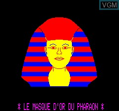 Title screen of the game Masque D'or Du Pharaon, Le on Tangerine Computer Systems Oric
