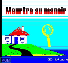Title screen of the game Meurtre Au Manoir on Tangerine Computer Systems Oric