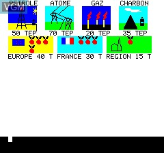 Menu screen of the game Affaire En Or, Une on Tangerine Computer Systems Oric