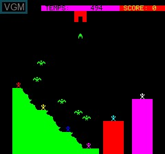 Menu screen of the game Aiglon on Tangerine Computer Systems Oric