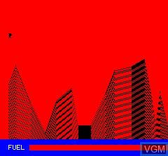 Menu screen of the game Luna Landa on Tangerine Computer Systems Oric