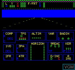 Menu screen of the game Mission Delta on Tangerine Computer Systems Oric
