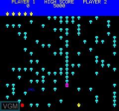 Menu screen of the game Mushroom Mania on Tangerine Computer Systems Oric