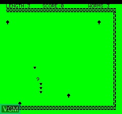 Menu screen of the game Oric Worm on Tangerine Computer Systems Oric