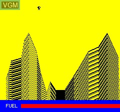 In-game screen of the game Luna Landa on Tangerine Computer Systems Oric
