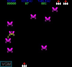 In-game screen of the game Orion on Tangerine Computer Systems Oric