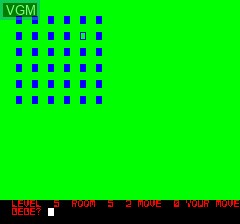 In-game screen of the game Mines of Moria, The on Tangerine Computer Systems Oric