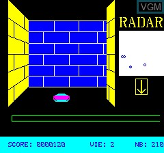 In-game screen of the game 3D Munch on Tangerine Computer Systems Oric