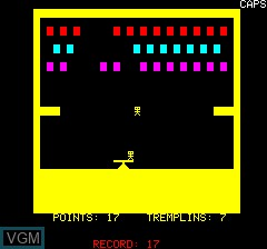 In-game screen of the game Acrobate on Tangerine Computer Systems Oric