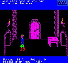 In-game screen of the game Aigle D'Or, L' on Tangerine Computer Systems Oric