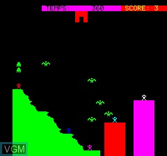 In-game screen of the game Aiglon on Tangerine Computer Systems Oric
