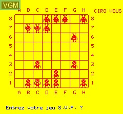 In-game screen of the game Ciro ou Les Envahisseurs Fous on Tangerine Computer Systems Oric