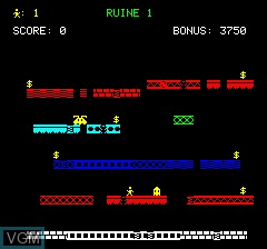 In-game screen of the game Citee Interdite, La on Tangerine Computer Systems Oric